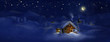Christmas scenic panorama landscape - huts, church - 56612803
