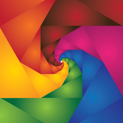 abstract colorful spiral of steps leading to infinity - vector b