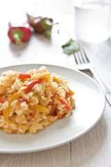 Risotto with peppers