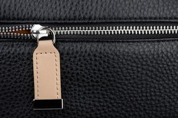 Leather bag zipper