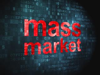Marketing concept: Mass Market on digital background