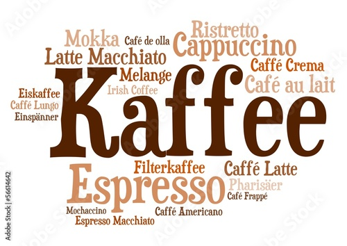 Wordcloud - Kaffezubereitungen