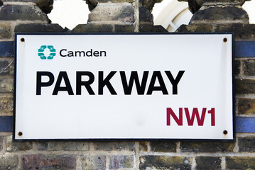 Parkway, Camden - Street sign in London