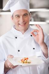 Confident chef.