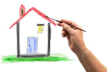 casa ad acquerello