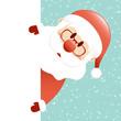 Santa Glasses & Beard Banner Retro