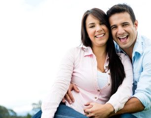Beautiful couple smiling