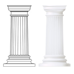 classic style column ,vector set