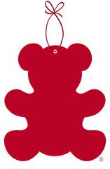 noel petit ours rouge
