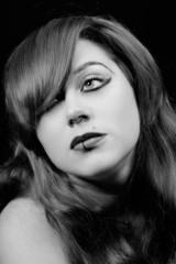 Frauen Portrait Schwarz Weiß