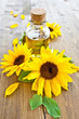 Oel aus Sonnenblumen