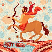 """Astrologiczne Kalendarz: znak zodiaku """"Strzelec"""""""