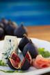 Italian antipasto figs with prosciutto and gorgonzola