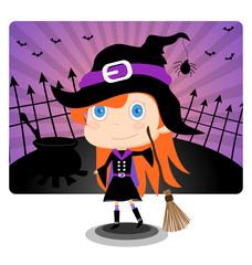 Witch Halloween Giirl