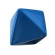 Blue octahedron isolated on white background