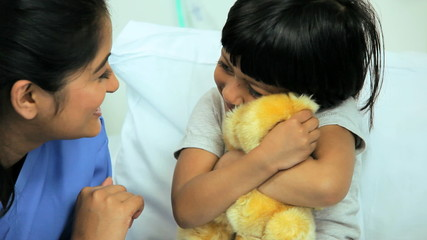 Asian Indian Child Receiving Specialist Paediatric Care