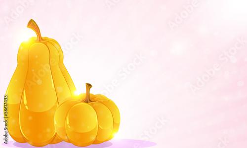 Pumpkins and pink shine