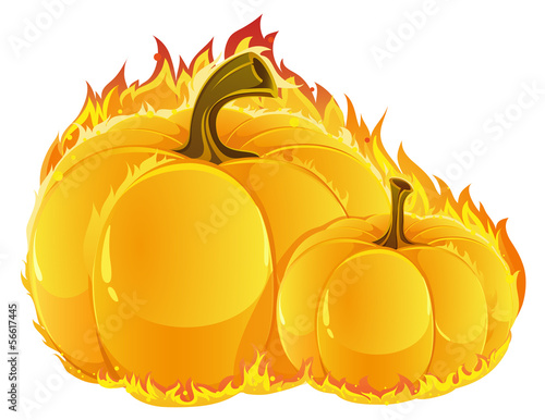 Burning pumpkins