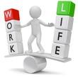 work life balance Männchen