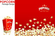 vector illustration of print layout for popcorn bucket - 56618267