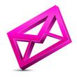 pink envelope icon 3d