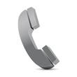 grey phone icon 3d