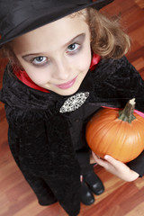 Halloween - girl has a fun at Halloween party