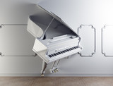 grand piano in the wall