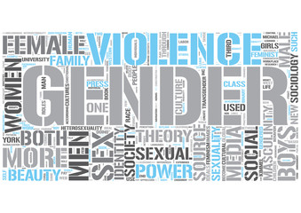 Sociology of gender Word Cloud Concept