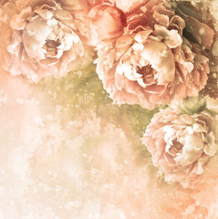 romantic textured card with peony