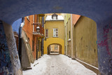 Fototapety winter in Warsaw, Poland