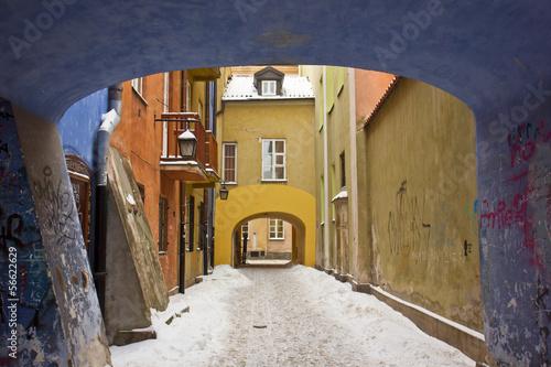 winter in Warsaw, Poland © neirfy