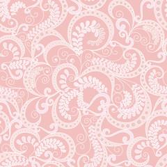 ornate seamless pattern on pink background