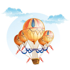 Image of a hot air balloon in the sky.