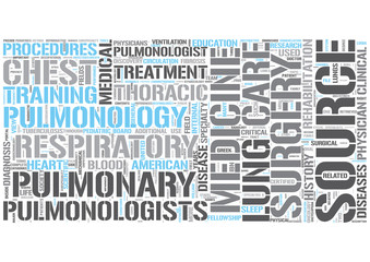 Respiratory medicine Word Cloud Concept