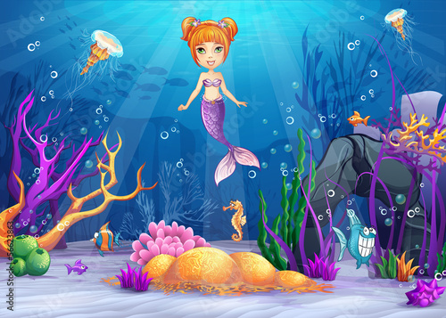ilustracja-podwodny-swiat-zi-syrenka