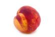 Nectarine isolated on white