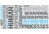 Behavioral geography Word Cloud Concept
