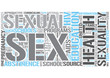 Sex education Word Cloud Concept