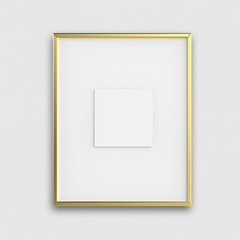 blank modern 3d frame on texture background