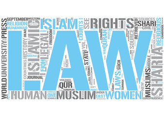 Sharia Word Cloud Concept