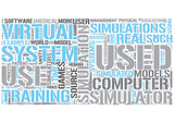 Simulation Word Cloud Concept