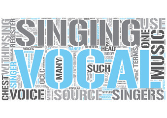 Singing Word Cloud Concept