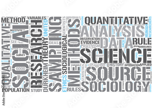 Social research Word Cloud Concept