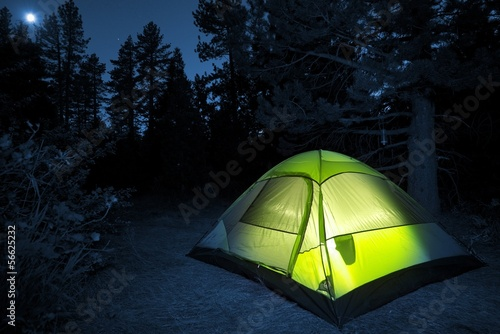 Foto op Canvas Kamperen Small Camping Tent