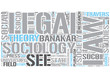 Sociology of law Word Cloud Concept