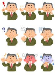 管理職 様々な表情