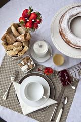 Petit déjeuner, brunch, déjeuner, table, service, hôtel