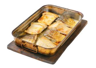 Oven baked carp fillets