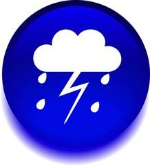 Синий знак с изображением облака